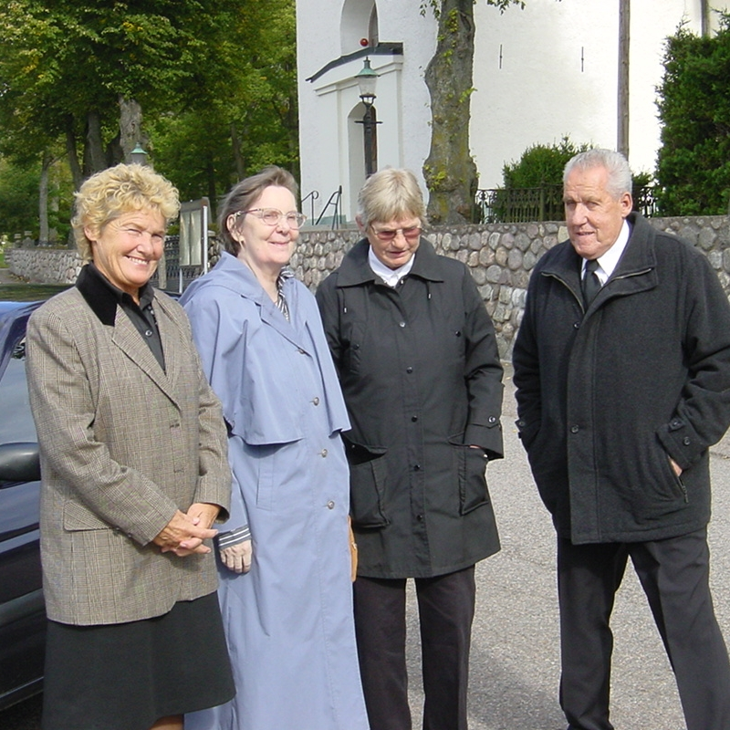 Birgitta, Märta, Evelyn, Göran