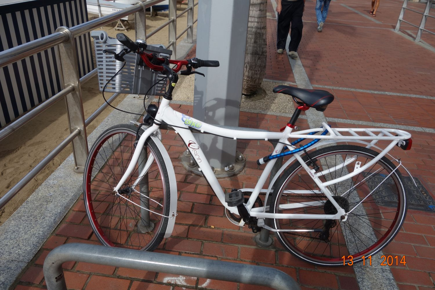 the white birthday Bike
